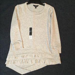 Simply Vera Vera Wang Ruffle Sweatshirt, size M